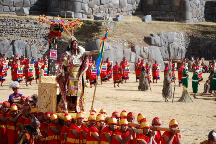 Inti Raymi Festival in Cusco, Peru. The Royal Inca.