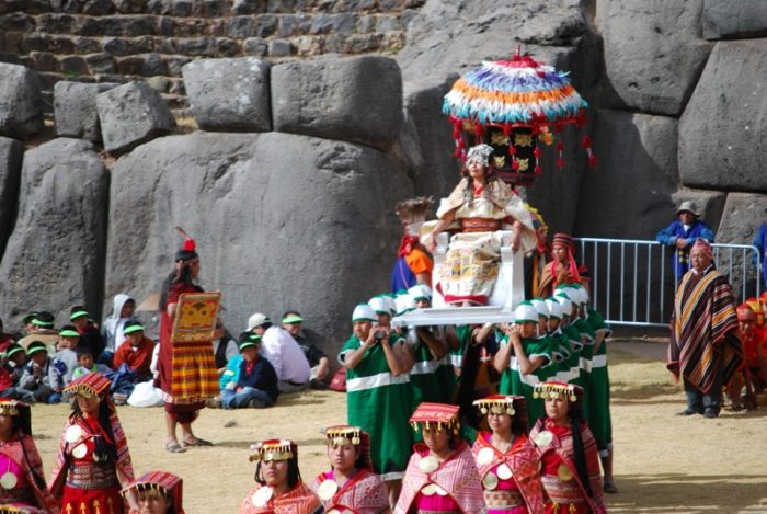 Inti Raymi festival in Cusco, Peru. The Royal Inca Queen