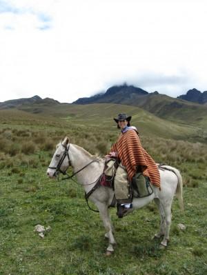 Horseback Riding at the Base of Cotopaxi Volcano