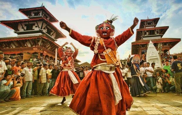 Masked Festival Dancers-Kathmandu